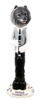Keeshond Clarinetist Doogie Collectable Figurine