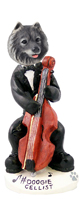 Keeshond Cellist Doogie Collectable Figurine