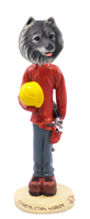 Keeshond Construction Worker Doogie Collectable Figurine