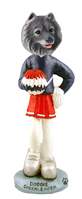 Keeshond Cheerleader Doogie Collectable Figurine
