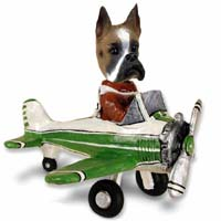 Boxer Airplane Doogie Collectable Figurine
