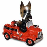 Boxer Fire Engine Doogie Collectable Figurine