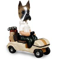 Boxer Golf Cart Doogie Collectable Figurine