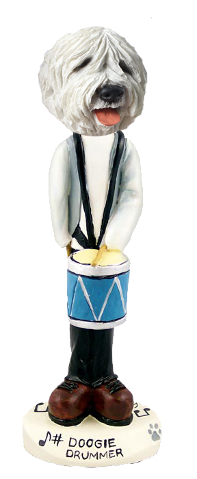 Old English Sheepdog Drummer Doogie Collectable Figurine