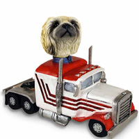 Pekingese Truck Tractor Doogie Collectable Figurine