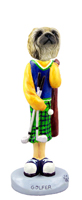 Pekingese Golf Doogie Collectable Figurine