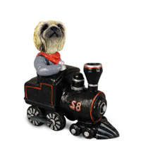 Pekingese Train Doogie Collectable Figurine