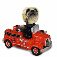 Pekingese Fire Engine Doogie Collectable Figurine