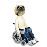 Pekingese Wheelchair Doogie Collectable Figurine