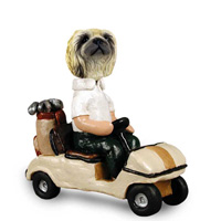 Pekingese Golf Cart Doogie Collectable Figurine