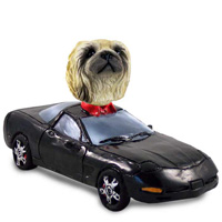 Pekingese Sports Car Doogie Collectable Figurine