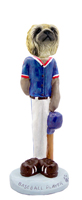 Pekingese Baseball Doogie Collectable Figurine