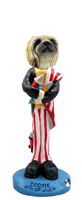 Pekingese 4th of July Doogie Collectable Figurine