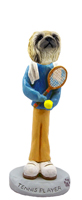 Pekingese Tennis Player Doogie Collectable Figurine