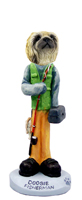 Pekingese Fisherman Doogie Collectable Figurine