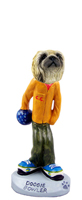 Pekingese Bowler Doogie Collectable Figurine
