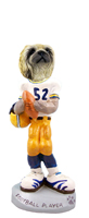 Pekingese Football Player Doogie Collectable Figurine