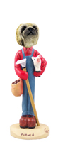 Pekingese Farmer Doogie Collectable Figurine
