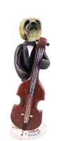 Pekingese Bassist Doogie Collectable Figurine