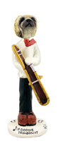 Pekingese Trombonist Doogie Collectable Figurine