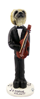 Pekingese Violinist Doogie Collectable Figurine