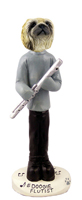 Pekingese Flutist Doogie Collectable Figurine