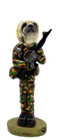 Pekingese U.S. Army Doogie Collectable Figurine