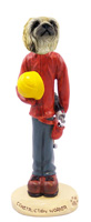 Pekingese Construction Worker Doogie Collectable Figurine