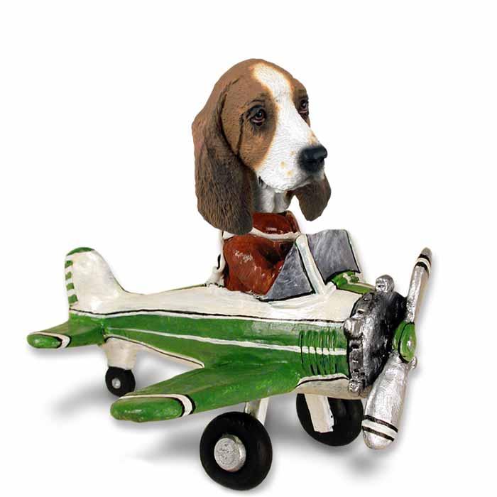 Basset Hound Airplane Doogie Collectable Figurine