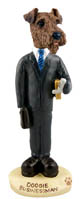 Airedale Businessman Doogie Collectable Figurine