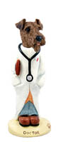 Airedale Doctor Doogie Collectable Figurine