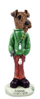 Airedale Lucky Dog Doogie Collectable Figurine