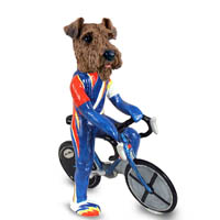 Airedale Bicycle Doogie Collectable Figurine