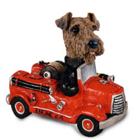 Airedale Fire Engine Doogie Collectable Figurine