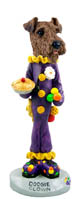 Airedale Clown Doogie Collectable Figurine