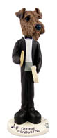Airedale Conductor Doogie Collectable Figurine