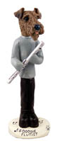 Airedale Flutist Doogie Collectable Figurine