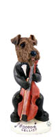 Airedale Cellist Doogie Collectable Figurine
