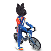 Scottish Terrier Bicycle Doogie Collectable Figurine