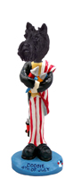 Scottish Terrier 4th of July Doogie Collectable Figurine