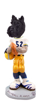 Scottish Terrier Football Player Doogie Collectable Figurine
