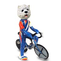 West Highland Terrier Bicycle Doogie Collectable Figurine