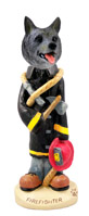 Norwegian Elkhound Fireman Doogie Collectable Figurine