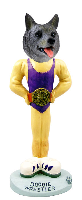 Norwegian Elkhound Wrestler Doogie Collectable Figurine