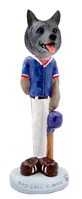 Norwegian Elkhound Baseball Doogie Collectable Figurine