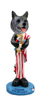 Norwegian Elkhound 4th of July Doogie Collectable Figurine
