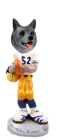 Norwegian Elkhound Football Player Doogie Collectable Figurine