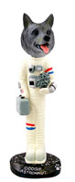 Norwegian Elkhound Astronaut Doogie Collectable Figurine