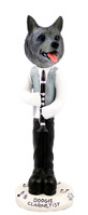 Norwegian Elkhound Clarinetist Doogie Collectable Figurine