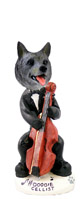 Norwegian Elkhound Cellist Doogie Collectable Figurine